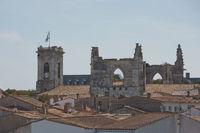 View of Saint Martin de Re and Church Saint-Martin in Ile de Re in France