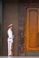 Guards at the Ho Chi Minh Mausoleum in Hanoi