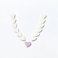Hearts pattern decoration in the shape of necklace.