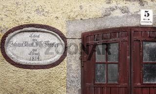 Historisches Detail eines Hauses