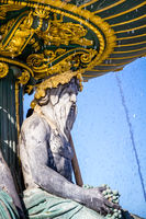 Fountain of the Seas detail, Concorde Square, Paris