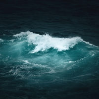 dark ocean wave background