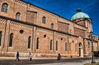 Vicenza, Italy - March 19, 2019 - Cathedral of Santa Maria Annunciata in the old town
