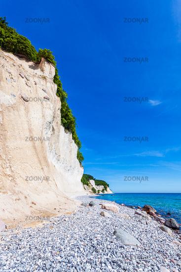 Kreidefelsen an der Ostseeküste auf der Insel Rügen