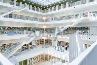 interior view of the municipal library in Stuttgart