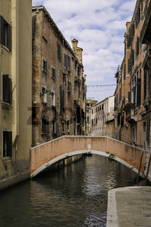 Colorful Traditional Venetian Houses in a canal