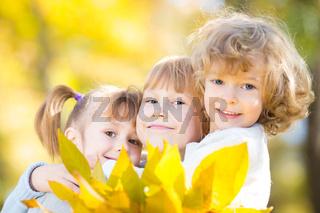 Children in autumn park