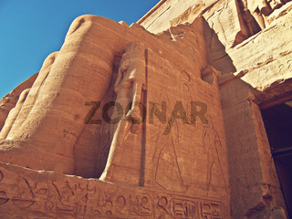 detail of the Great Temple of Ramesses II, Abu Simbel, Egypt