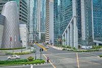Manila, Philippines - Feb 02, 2020: streets of Makati city during daytime.