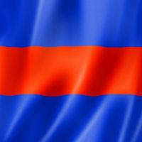 Three international maritime signal flag