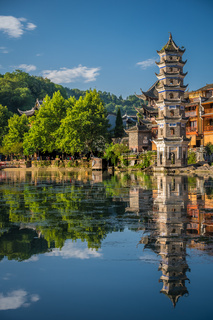 Fenghuang Wanming Pagoda Tower in the Old Town