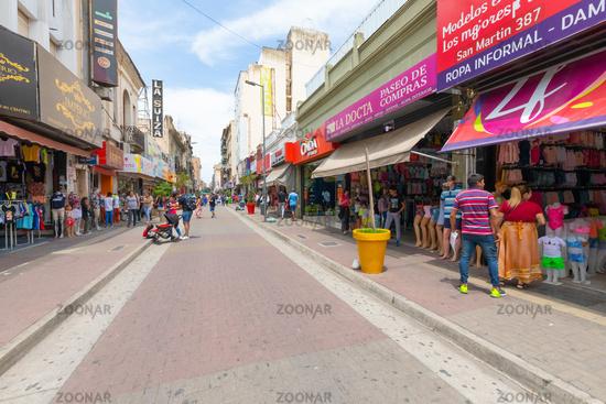 Argentina Coroboba San Martin people in shopping street