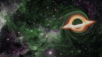 Supermassive black hole. Elements of this image furnished by NASA