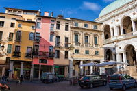 vicenza, italy - 19.03.2019 - piazza at the palazzo della ragione