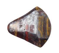 cabochon from Jaspilite gemstone isolated