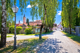 Varazdin. Colorful street of baroque town Varazdin view