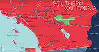 Southern California state detailed editable map