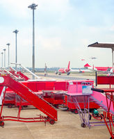 Airport equipment stairs airplanes buses