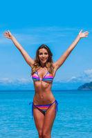Beach summer holidays woman