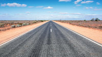 road to horizon in western Australia