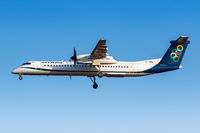 Olympic Air Bombardier DHC-8-400 Flugzeug Flughafen Athen