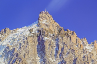 Aiguille du Midi at Chamonix, Mont Blanc Massif, Alps, France