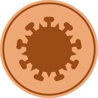 Vector Flat Bronze Covid-19 Coin Icon