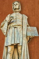 Padua, Italy - 03/19/2019 - old statue of the giotto