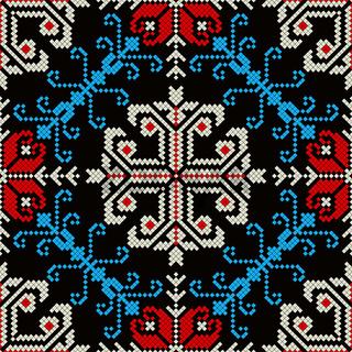 Romanian traditional pattern 174