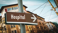Street Sign to Hospital