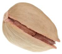Pistachio on white