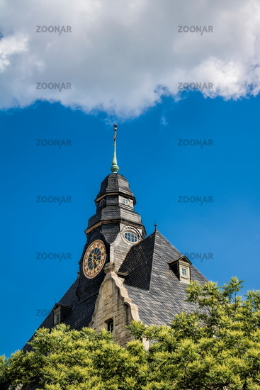 naumburg, germany - 18.06.2019 - tower clock in the old town