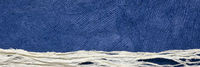 blue sky over snow or whitewater - abstract paper landscape