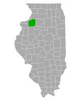 Karte von Henry in Illinois - Map of Henry in Illinois