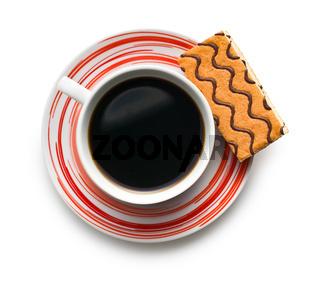 sweet dessert with coffee mug