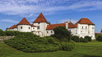 Old castle and city park in Varazdin, Croatia