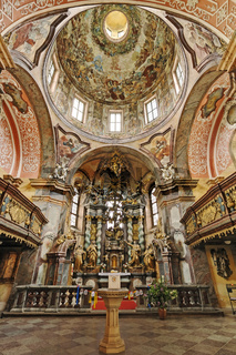 Kreuzkirche - Evangelische Pfarrkirche im Kloster Neuzelle, Neuzelle, Brandenburg, Deutschland