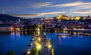 Night over Charles Bridge
