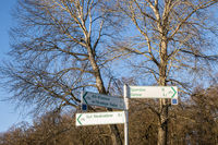 signpost for cycle track, Berlin, Germany