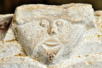 Face immortalized in marble