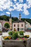 Town square in historic Riedenburg