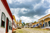 Historic and ancient church in the city of Tiradentes built in the 18th century