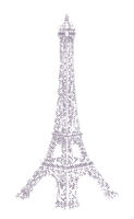 Eiffel Tower halftone illustration