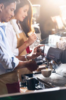 Barista working cafe