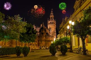 Fireworks in Sevilla Spain