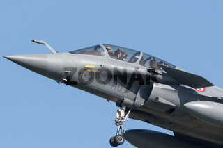 Leeuwarden, Netherlands April 18, 2018: A French Dassault Rafale during the Frisian Flag exercise
