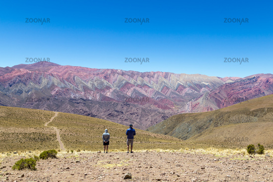 Mountain of fourteen colors in Humahuaca, Argentina