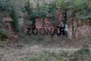 Alter Steinbruch bei Olfen, Odenwald