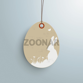 Easter Offer Vintage Price Sticker Silver Background PiAd