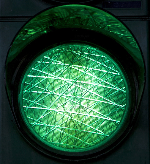 Green traffic light, Germany